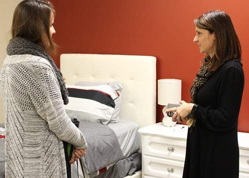 Visitors were given a tour of the HaSS facilities, including the model hotel room.