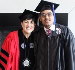 Vargas with Roberts Wesleyan College President Dr. Deana Porterfield.
