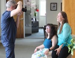 Photographer Rick Guidotti interviews BELL student.