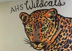 AHS Wildcats mural.