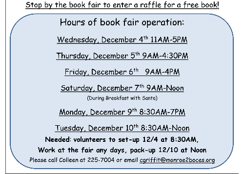 Hours of Book Fair