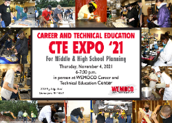 Postcard advertising the CTE EXPO 21