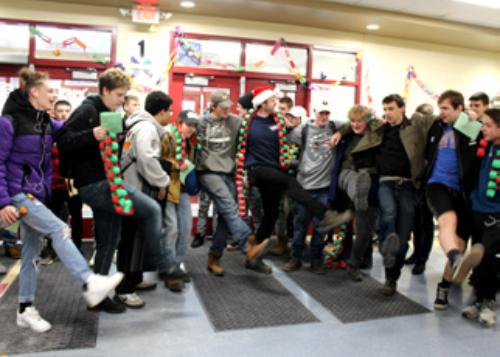 Crowd of CTE students having fun