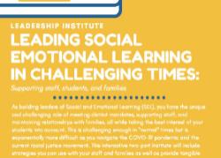 Leading Social Emotional Learning