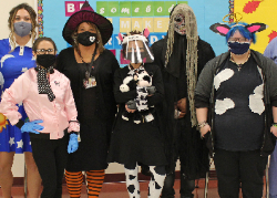 Some of the costumes at Westside Academy
