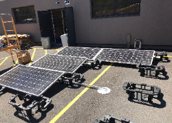 Donated solar panels and equipment