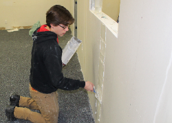 Carpentry student helps with renovation