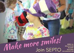 Make more smiles - Join SEPTO. Photo of smiling girl at Fun Fair