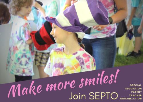 Make more smiles, Join SEPTO. Photo of smiling girl at Fun Fair
