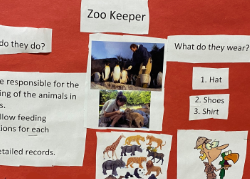 Poster showing research on zoo keeper job