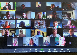 Faces at the Zoom meeting