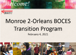 Monroe 2-Orleans BOCES Transition Program graphic
