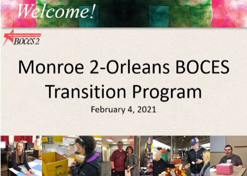 Monroe 2-Orleans BOCES Transition Program graphic