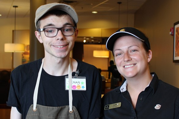 BELL graduate working at Panera.