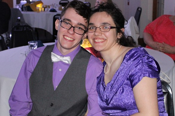 Couple at the Spring Dinner Dance.