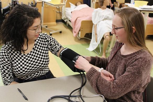 Taking blood pressure readings