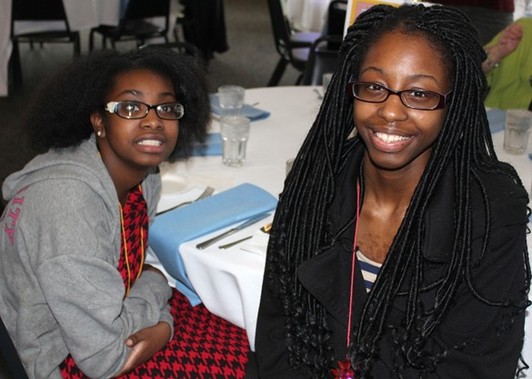 Two young ladies at the SEPTO Spring Dinner Dance