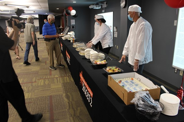 CTE students serving food at an event