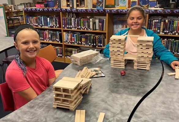 Brockport students using Keva Plank kits from CaTS SLS