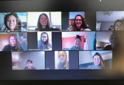 New Visions students get together on Zoom