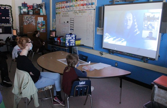 Video conferencing at Terry Taylor Elementary