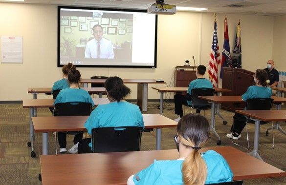 Videoconference with Dr. Michael Mendoza and CTE students