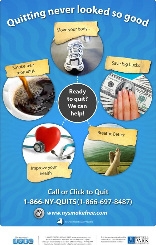 Poster: Ready to quit? Call 1-866-NY-QUITS