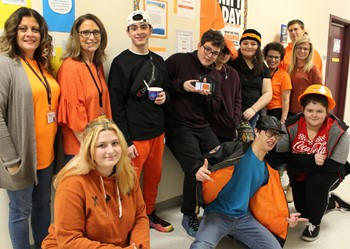 Celebrating kindness with orange on Unity Day