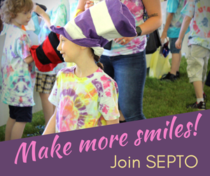Make more smiles-Join SEPTO. Photo of smiling girl at Fun Fair