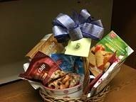 One of the baskets to be raffled off