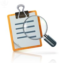 Magnifying Glass and clipboard illustration